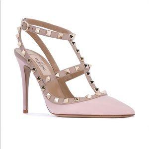 SS17 Valentino Garavani Rockstud Pumps (Rose pink)